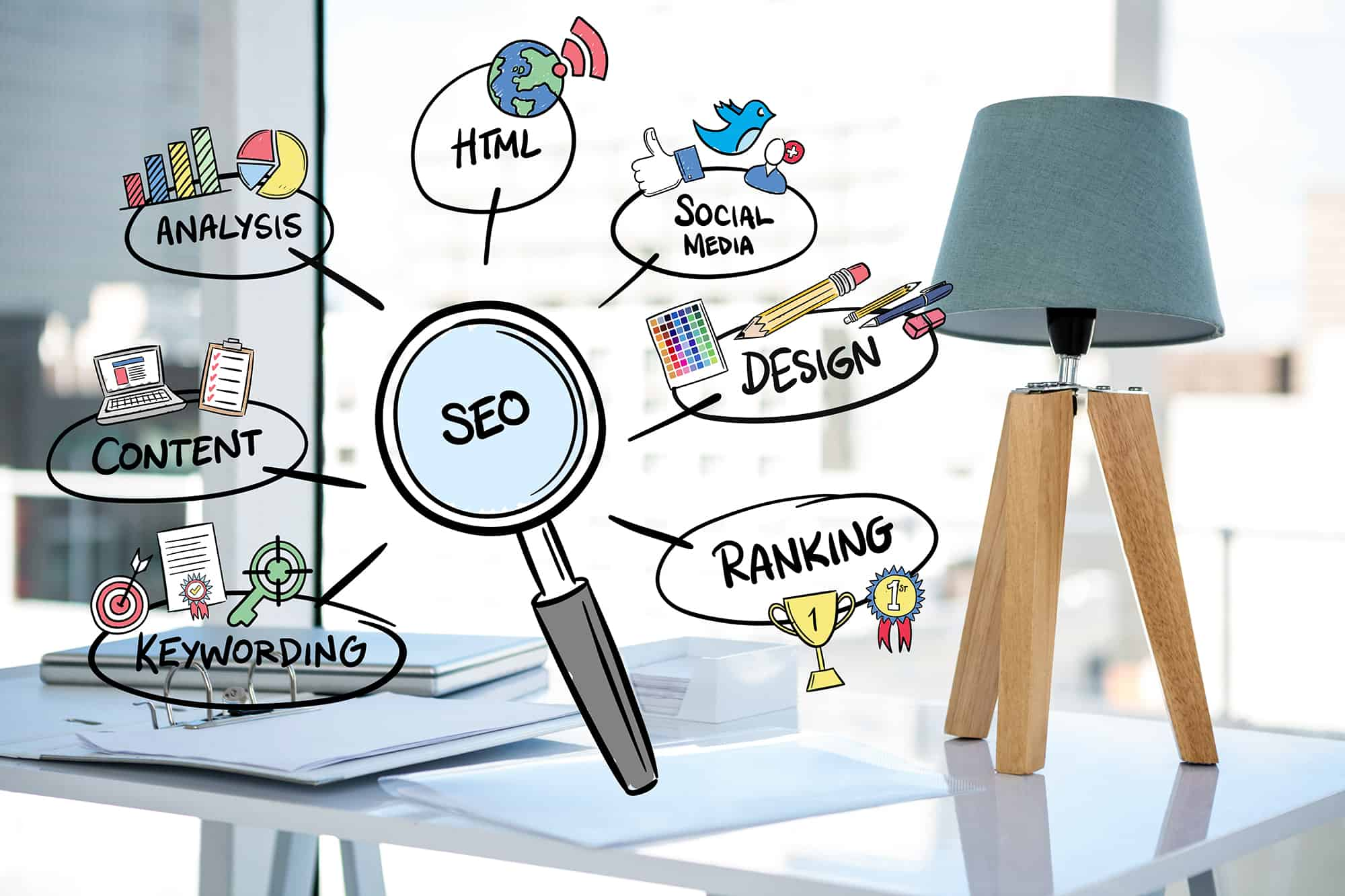 Magnifying Glass With Seo Concepts 1